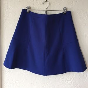 J. Crew deep cobalt blue skirt - size 8